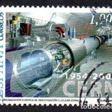 Timbres: EDIFIL 4121 ESPAÑA 2004 L ANIVERSARIO DE LA ORGANIZACIÓN EUROPEA DE INVESTIGACIÓN NUCLEAR. CER USADO. Lote 238172465