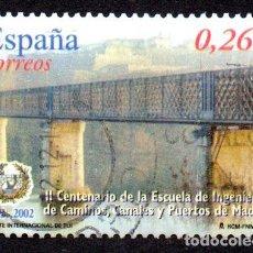 Timbres: EDIFIL 3966 ESPAÑA 2003 II CENTENARIO DE LA ESCUELA DE INGENIEROS DE CAMINOS DE MADRID. USADO. Lote 238202220