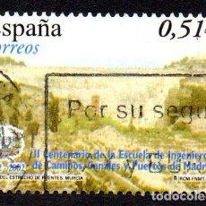 Timbres: EDIFIL 3967A ESPAÑA 2003 II CENTENARIO DE LA ESCUELA DE INGENIEROS DE CAMINOS DE MADRID. USADO. Lote 238202630