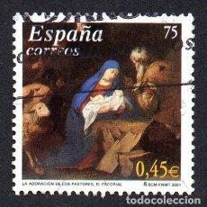 Timbres: EDIFIL 3836 ESPAÑA 2001 NAVIDAD. USADO. Lote 238283640