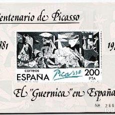 Sellos: 1981 EL GUERNICA EN ESPAÑA 29 HOJITAS **. Lote 238498865