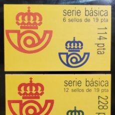 Selos: ESPAÑA 1986 CARNES EDIFIL 2834C (I) Y (II) SERIE BÁSICA REY JUAN CARLOS 19 PESETAS NUEVO. Lote 238691160
