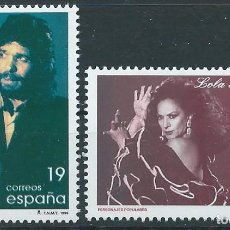 Selos: 1996. ESPAÑA. EDIFIL 3442/3**MNH. PERSONAJES POPULARES. CAMARÓN DE LA ISLA. LOLA FLORES.. Lote 239715755