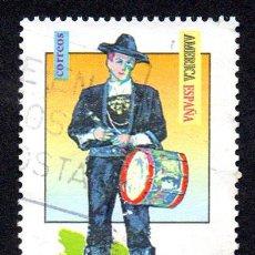"""Selos: EDIFIL 3452 ESPAÑA 1996 EMISIÓN """"AMÉRICA UPAEP"""". TRAJES TÍPICOS MASCULINOS. USADO. Lote 239941950"""