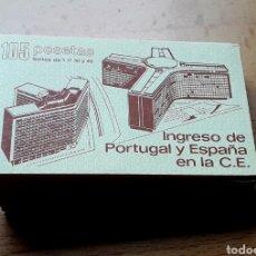 Sellos: 1986 30 CARNÉS INGRESO DE PORTUGAL Y ESPAÑA EN LA C.E. NUEVOS EDIFIL 2825C. Lote 239992590