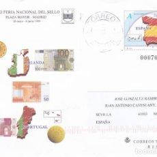 Sellos: ESPAÑA.- SOBRE ENTERO POSTAL FERIA DEL SELLO MADRID 1999 CIRCULADO.. Lote 240177935
