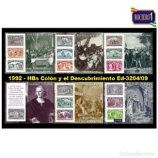 Selos: ESPAÑA 1992. EDIFIL 3204-09 3209. COLÓN Y EL DESCUBRIMIENTO. NUEVO** MNH. Lote 240474140