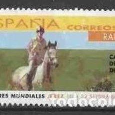 Sellos: ESPAÑA 2002 - JUEGOS ECUESTRES MUNDIALES - EDIFIL Nº 3899 - USADO. Lote 294014663
