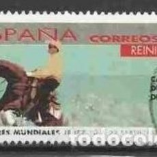 Sellos: ESPAÑA 2002 - JUEGOS ECUESTRES MUNDIALES - EDIFIL Nº 3901 - USADO. Lote 294014723
