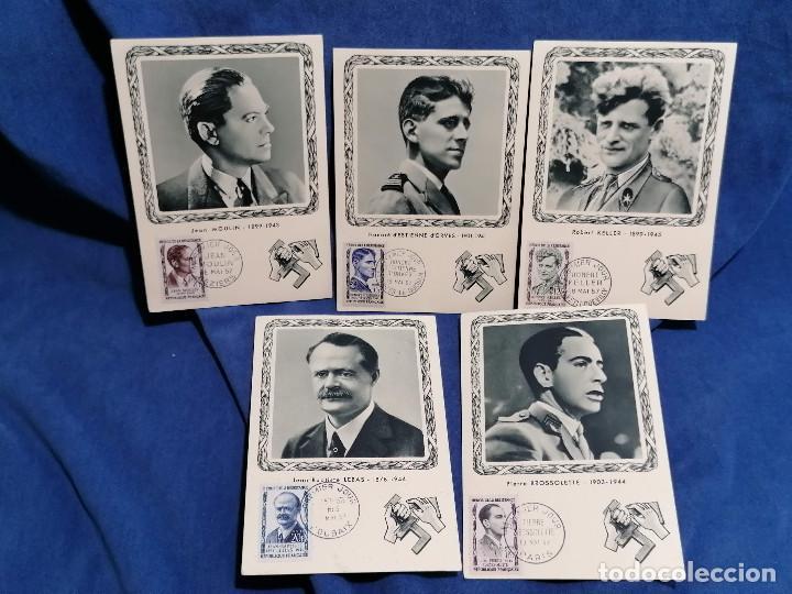 FRANCIA SEGUNDA GUERRA MUNDIAL HEROES DE LA RESISTENCIA AÑO 1957 MATASELLOS CONMEMORATIVO (Sellos - España - Juan Carlos I - Desde 1.975 a 1.985 - Usados)