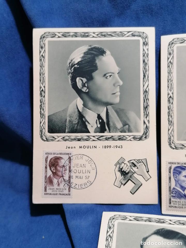 Sellos: Francia Segunda Guerra mundial Heroes De La Resistencia año 1957 matasellos conmemorativo - Foto 2 - 241054685