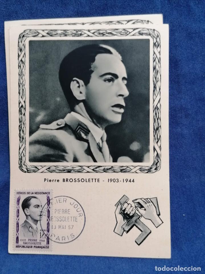 Sellos: Francia Segunda Guerra mundial Heroes De La Resistencia año 1957 matasellos conmemorativo - Foto 4 - 241054685