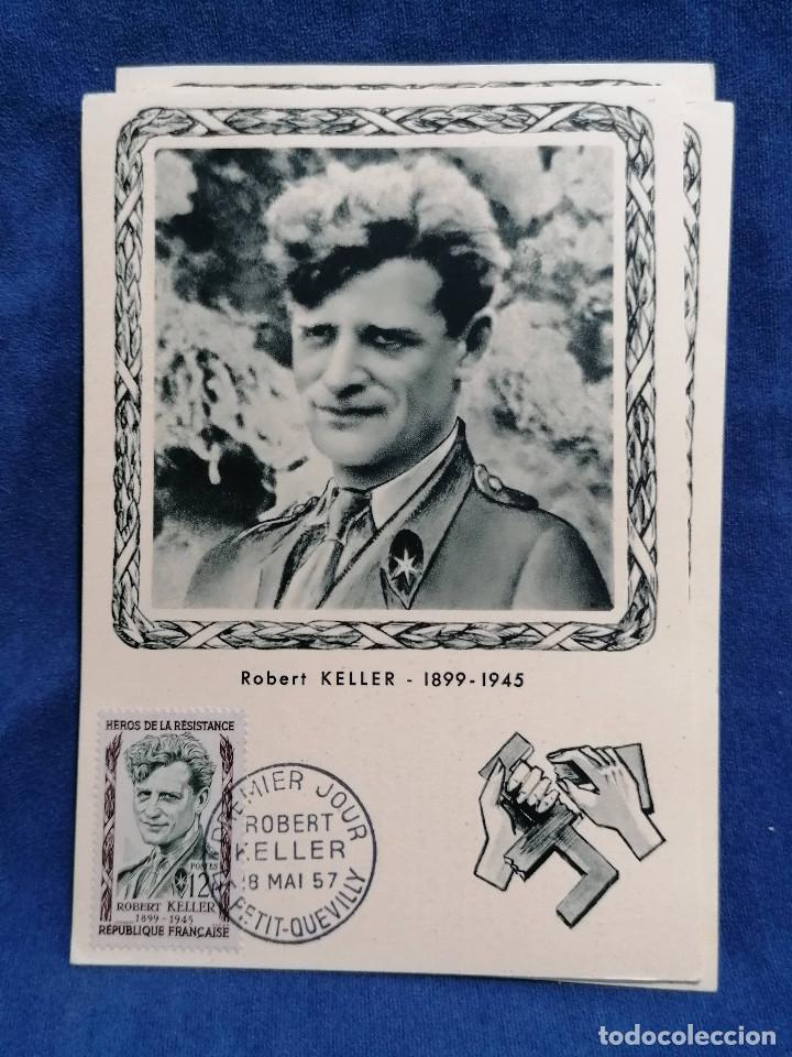 Sellos: Francia Segunda Guerra mundial Heroes De La Resistencia año 1957 matasellos conmemorativo - Foto 5 - 241054685