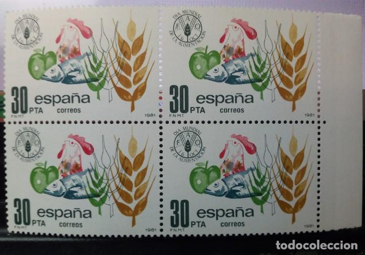 BLOQUE DE 4 SELLOS / ESPAÑA 1981 / 30 PESETAS / DÍA MUNDIAL DE LA ALIMENTACIÓN (Sellos - España - Juan Carlos I - Desde 1.975 a 1.985 - Nuevos)