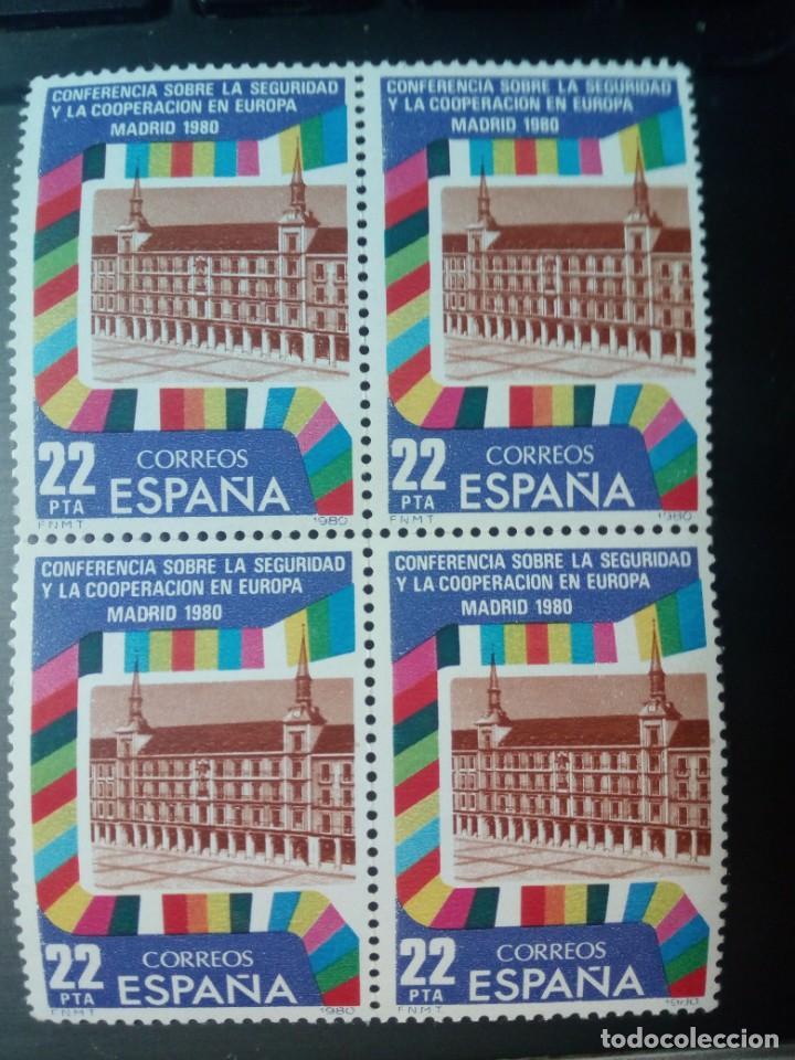 4 SELLOS 22 PESETAS NUEVOS CONFERENCIA SOBRE LA SEGURIDAD Y LA COOPERACIÓN EN EUROPA, MADRID 1980 (Sellos - España - Juan Carlos I - Desde 1.975 a 1.985 - Nuevos)