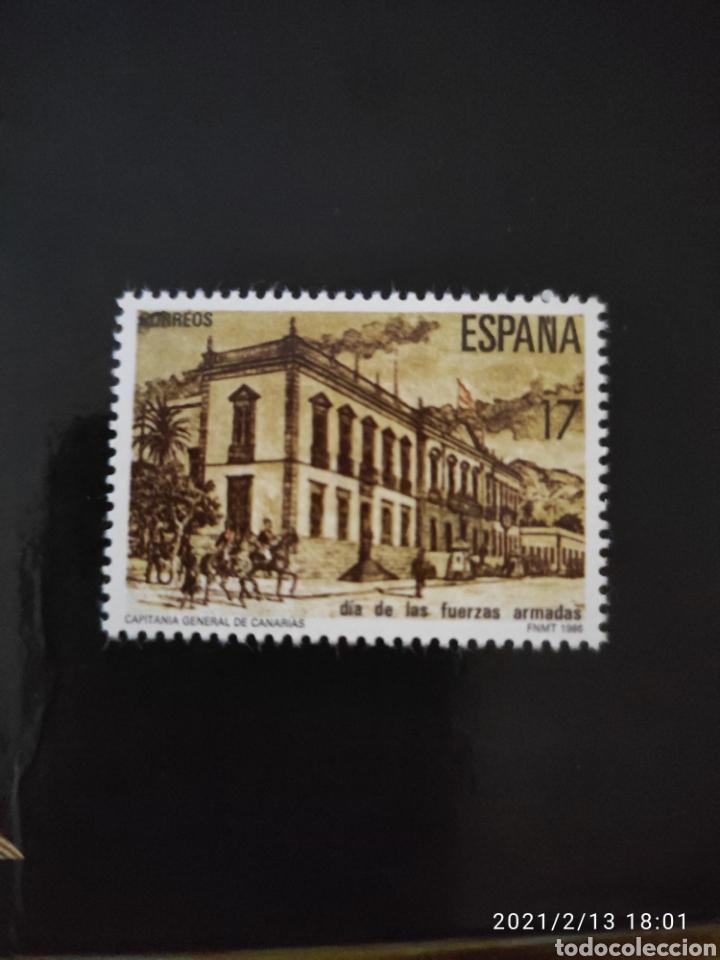 ESPAÑA SPAIN 2849 1986 DÍA DE LAS FUERZAS ARMADAS, LUJO MNH (Sellos - España - Juan Carlos I - Desde 1.986 a 1.999 - Nuevos)