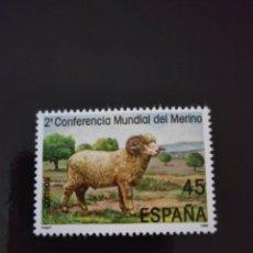 Sellos: ESPAÑA 1986 EDIFIL 2839** II CONFERENCIA MUNDIAL DEL MERINO. Lote 241260260