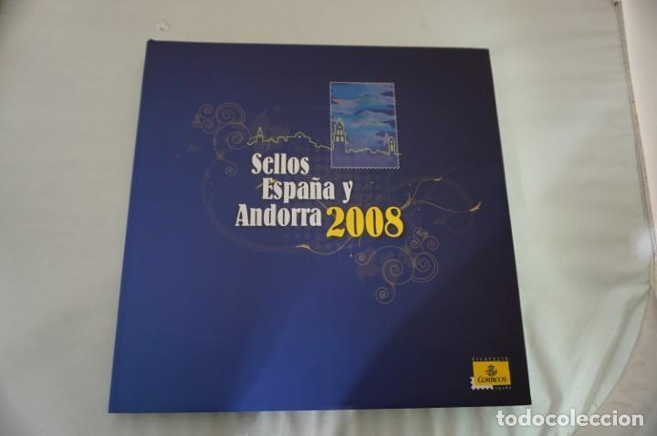 ALBUM COMPLETO SELLOS ESPAÑA Y ANDORRA 2008 - IMPECABLE! (Sellos - España - Juan Carlos I - Desde 1.975 a 1.985 - Nuevos)
