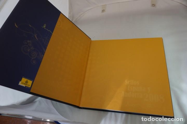 Sellos: ALBUM COMPLETO SELLOS ESPAÑA Y ANDORRA 2008 - IMPECABLE! - Foto 4 - 241345990