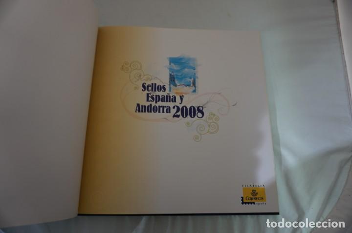 Sellos: ALBUM COMPLETO SELLOS ESPAÑA Y ANDORRA 2008 - IMPECABLE! - Foto 5 - 241345990