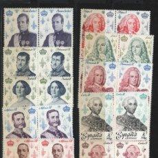 Sellos: R78/ CASA DE BORBON. REYES DE ESPAÑA 1978, EDIFIL 2496/505 EN BLOQUE DE 4 , MNH***. Lote 241458045