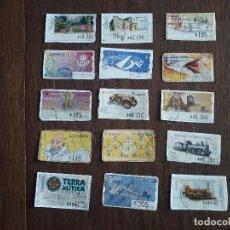 Sellos: LOTE DE 15 SELLOS-ETIQUETAS DE ESPAÑA ATMS. Lote 241791515