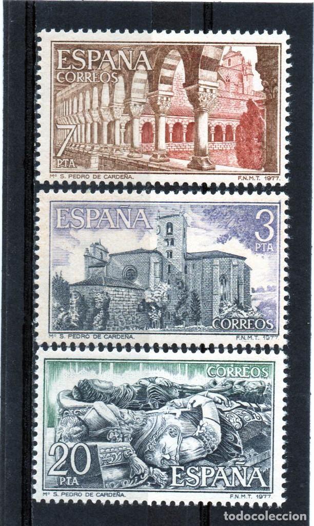 ESPAÑA / SPAIN / ESPAGNE AÑO 1977 EDIFIL NR. 2443/45 NUEVO MONASTERIO DE SAN PEDRO DE CARDEÑA (Sellos - España - Juan Carlos I - Desde 1.975 a 1.985 - Nuevos)
