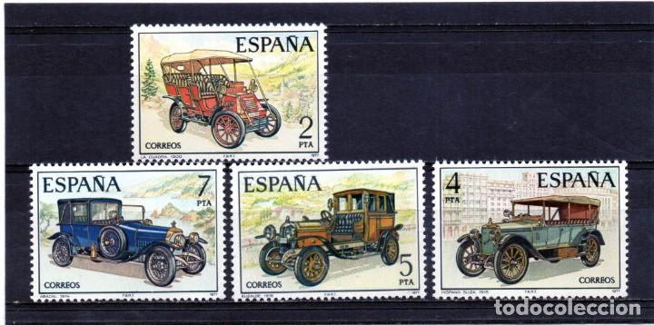 ESPAÑA / SPAIN / ESPAGNE AÑO 1977 EDIFIL NR. 2409/12 NUEVO AUTOMOVILES ANTIGUOS ESPAÑOLES (Sellos - España - Juan Carlos I - Desde 1.975 a 1.985 - Nuevos)
