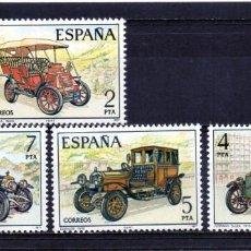 Sellos: ESPAÑA / SPAIN / ESPAGNE AÑO 1977 EDIFIL NR. 2409/12 NUEVO AUTOMOVILES ANTIGUOS ESPAÑOLES. Lote 241978975