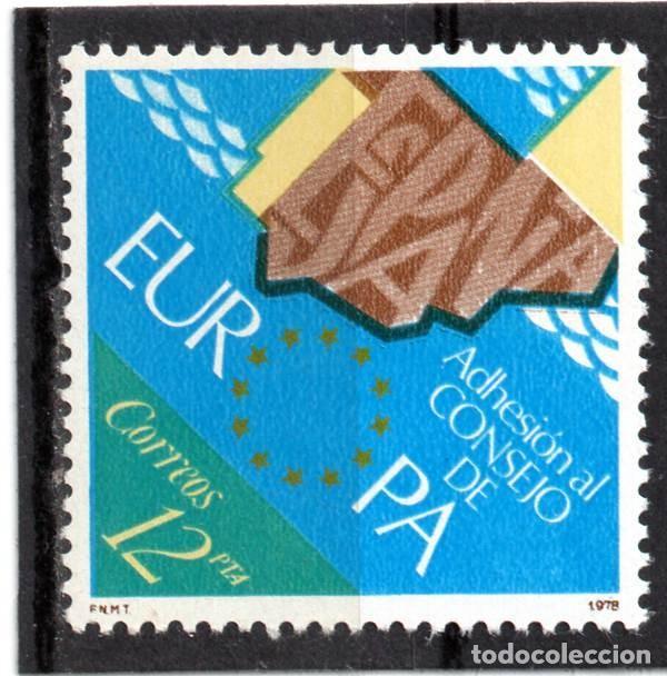 ESPAÑA / SPAIN / AÑO 1978 EDIFIL NR. 2476 NUEVO ADHESION DE ESPAÑA AL CONSEJO DE EUROPA (Sellos - España - Juan Carlos I - Desde 1.975 a 1.985 - Nuevos)