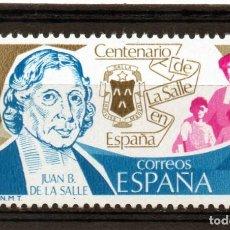 Sellos: ESPAÑA / SPAIN / AÑO 1979 EDIFIL NR. 2511 NUEVO CENTENARIO DE LA SALLE. Lote 241991015