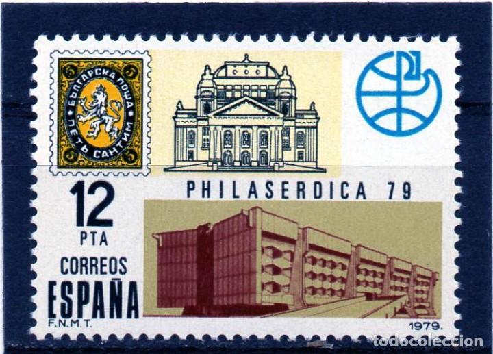 ESPAÑA / SPAIN / AÑO 1979 EDIFIL NR. 2524 NUEVO EXPOSICION FILATELICA MUNDIAL (Sellos - España - Juan Carlos I - Desde 1.975 a 1.985 - Nuevos)
