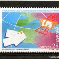 Sellos: ESPAÑA / SPAIN / AÑO 1993 EDIFIL NR. 3255 NUEVO DIA DE LAS TELECOMUNICACIONES. Lote 241992460