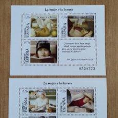 Sellos: ESPAÑA 2004 - EDIFIL 4060/61 - MHB - LA MUJER Y LA LECTURA - NUEVO ...L3272. Lote 242284370