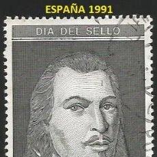 Sellos: ESPAÑA 1991 - ES 3110 - DIA DEL SELLO (VER IMAGEN) - 1 SELLO USADO. Lote 242351360