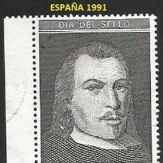 Sellos: ESPAÑA 1991 - ES 3110 - DIA DEL SELLO (VER IMAGEN) - 1 SELLO USADO. Lote 242351780