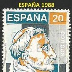 Sellos: ESPAÑA 1988 - ES 2930 - FRAY LUIS DE GRANADA (VER IMAGEN) - 1 SELLO USADO. Lote 242361915