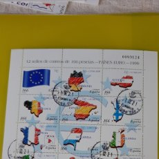 Sellos: EDIFIL 3632 / 43 USADO PAISES EURO 1999 12 SELLOS 1 EURO 166 PESETAS. Lote 242847660