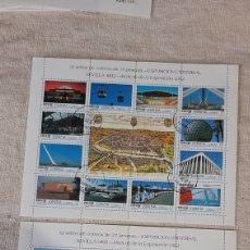 Sellos: USADIS 3164/75 3176/87 MIN PLIEGOS 42 A Y B ESPAÑA 1992. Lote 242853740