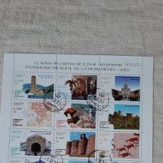 Sellos: USADA EDIFIL 3843/54 PATRIMONIO HUMANIDAD 2001 MONUMENTOS ARQUITECTURA PREHISTORIA FLORA. Lote 242855545