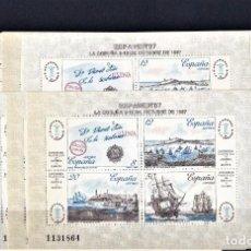 Sellos: ESPAÑA 1987 LOTE DE 10 HOJITAS EXPOSICION FILATELICA DE ESPAÑA Y AMERICA.. Lote 242885260