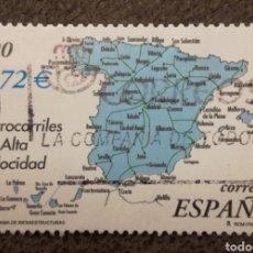 Sellos: EDIFIL 3855C - ESPAÑA 2001 - INFRAESTRUCTURAS - USADO. Lote 243065795