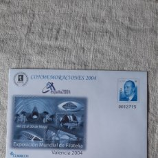 Sellos: EDIFIL 92 ANFIL CONMEMORATIVAS VALENCIA EXPOSICIÓN FILATÉLICA 2004 SOBRE ENTERO POSTAL JUAN CARLOS I. Lote 243146685