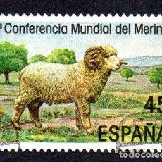 Sellos: EDIFIL 2839 ESPAÑA 1986 II CONFERENCIA MUNDIAL MERINO. USADO. Lote 243518350