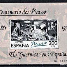 Sellos: ESPAÑA 1981 HOJITA EL GUERNICA EN ESPAÑA.. Lote 243963865