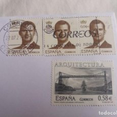 Sellos: SELLO EN SOBRE SIN MATASELLAR. ARQUITECTURA ESPAÑA. PUENTE VIZCAYA. PORTUGALETE. LAS ARENAS. 2007.. Lote 243966680