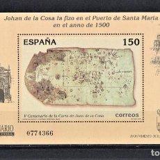 Sellos: ESPAÑA 2000 HOJITA V CENTENARIO DE LA CARTA A JUAN DE LA COSA.. Lote 243975850