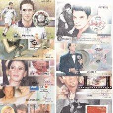 Sellos: ESPAÑA 2000 HOJITAS SERIE COMPLETA EXPOSICIÓN MUNDIAL DE FILATELIA.. Lote 243977745