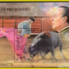 Sellos: 2004 TOROS. CURRO ROMERO, EDIFIL Nº 3834 (O). Lote 244053320