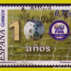Sellos: 2004 CENTENARIO DE LA FIFA, EDIFIL Nº 4082 (O). Lote 244060195